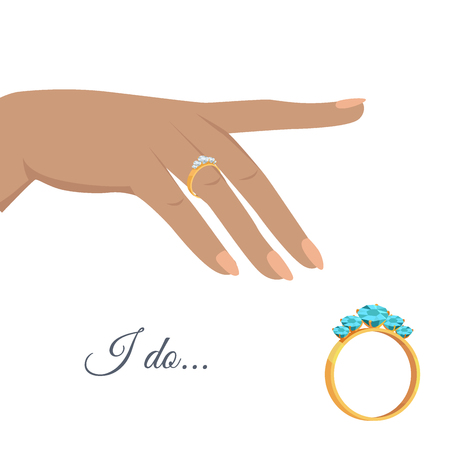 Marriage Proposal or Engagement Vector Concept Ilustrace
