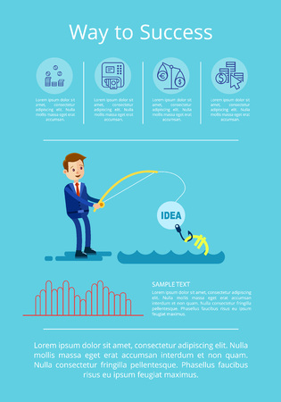 Way to Success Strategy Vector Illustration