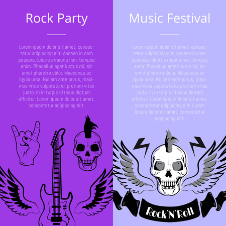 Rock Party Music Festival Collection of Posters