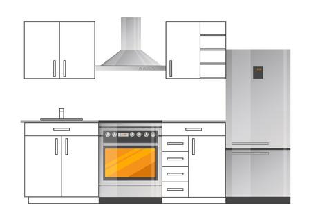 Kitchen Room Stylish Design with Modern Appliances