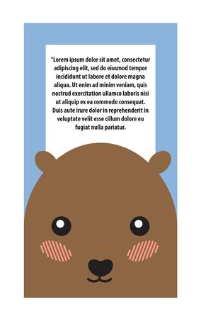 Hamster Head Book Cover Design Vector Illustration