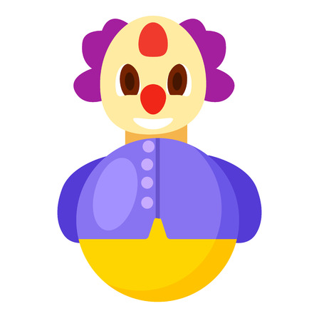 Roly Poly Clown in Purple Jacket Illustration