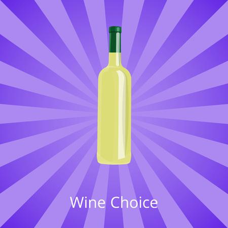 Wine Choice Bottle of White Wine Isolated on Ray