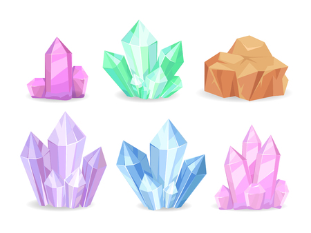 Cristales Minerales Geológicos Preciosos Realistas Aislados
