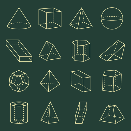 Geometric Shapes Collection 3D Vector Illustration 向量圖像