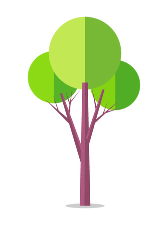 Flat Tree Icon Isolated on White