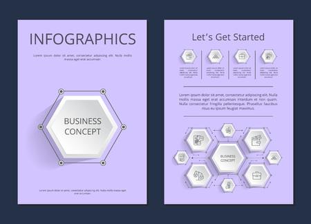 Let s Get Started Infographics Vector Illustration Standard-Bild - 102733779