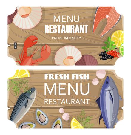 Menu Restaurant Premium Set Vector Illustration