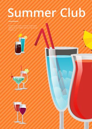 Summer Club Advert Poster Vector Illustration 向量圖像