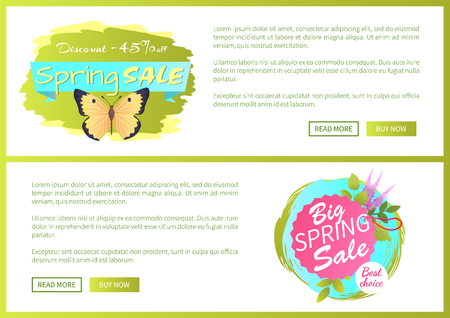 Spring Sale Poster Discount -45 Colorful Butterfly Archivio Fotografico - 102734702