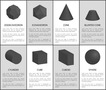 Dodecahedron and Icosahedron, Black Prisms Set