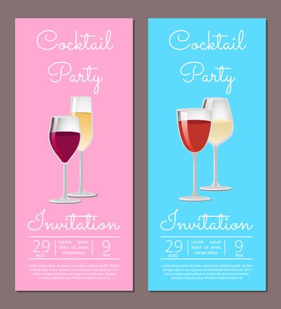 Cocktail Party Invitation Poster Template Info Reklamní fotografie