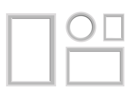 Simple Monochrome Frames Vector Set