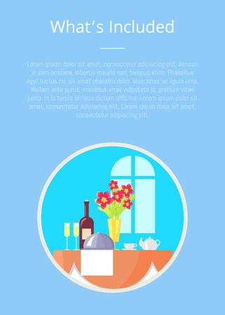 What s Included Template of Boarding Hotel Service Stock Vector - 102736237