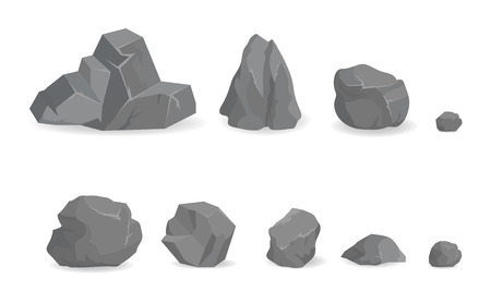 Grey Stone Rocks Collection of Big and Small Gems
