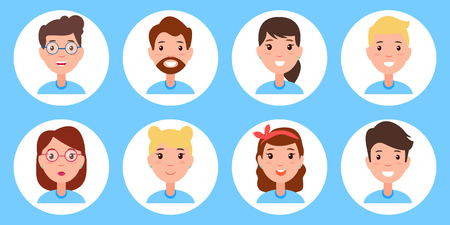 Persons Collection Icon Set Vector Illustration Stock Vector - 102736329