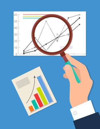 Searching Process, Analytics Vector Illustration