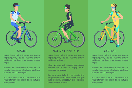 Active Lifestyle Sport Cyclist Colorful Poster