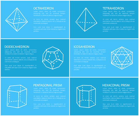 Dodecahedron and Octahedron Vector Illustration Illustration