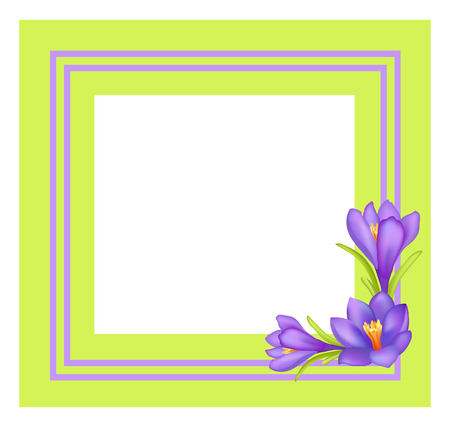 Decorative Frame for Photo or Text Spring Flowers Imagens - 102736447