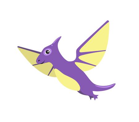 Pteranodon Dinosaur with Wings Vector Illustration