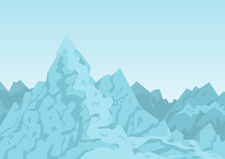 Mountains of Blue Color Image Vector Illustration 스톡 콘텐츠 - 103225917