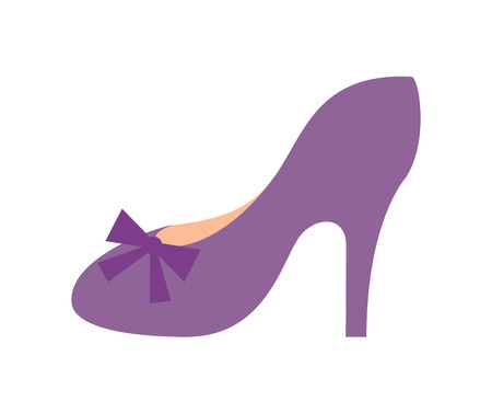 Princess Shoe of Purple Color Vector Illustration