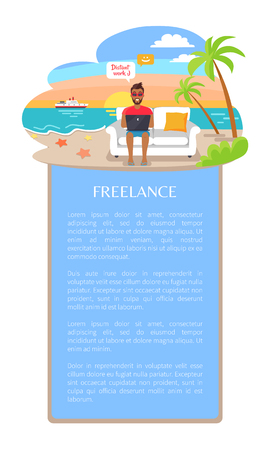 Freelance Poster and Text Vector Illustration Ilustrace
