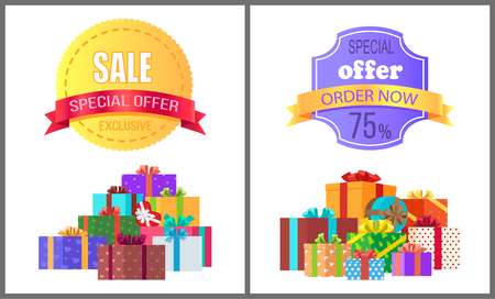 Special Offer Exclusive Sale Order Now Discount Illustration