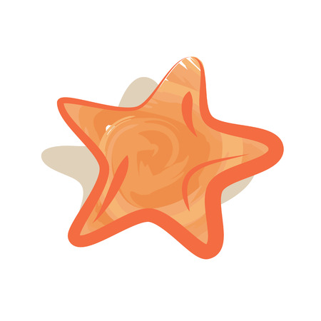 Sea Star Icon Isolated Logo Illustration on White