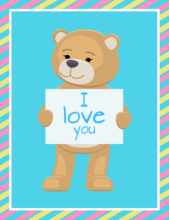 I Love You Text Sheet of Paper in Teddy Bears Paws