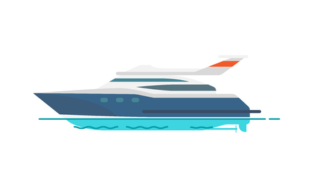 Cute Pattern of Speed Yacht Vector Illustration