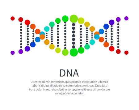 DNA Icon of Genetic Code, Deoxyribonucleic Acid Foto de archivo - 103226267