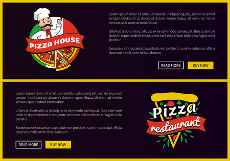 Pizza House and Restaurant Promotional Banners Set