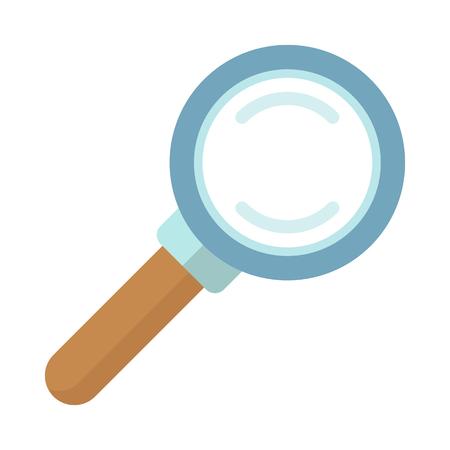 Magnifier Closeup Poster, Vector Illustration Illustration