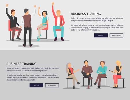Business Training Meeting on Vector Illustration Ilustração