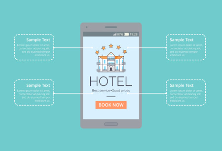 Hotel Best Service, Good Price Vector Illustration