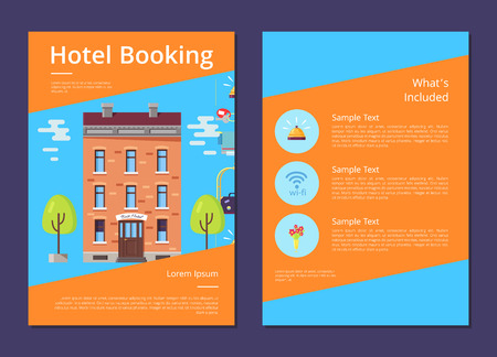 Hotel Booking and Whats Included in It Info Page Ilustrace