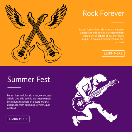 Rock Forever and Summer Fest Collection of Posters