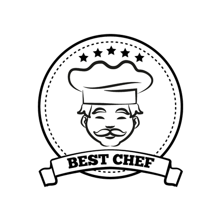 Best Chef Poster Sketch Text Vector Illustration Stock Vector - 103229167
