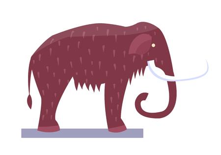 Mammoth Museum Item Object Vector Illustration Illustration