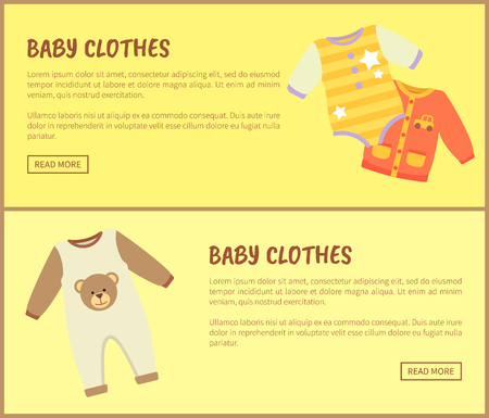 Baby Clothes Jumpers Web, Vector Illustration Illustration