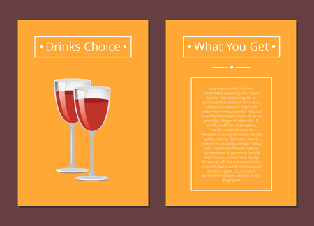 Drinks Choice What You Get Cover Red Wine Glasses