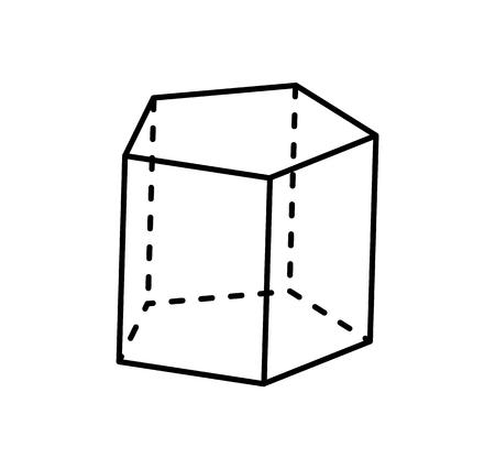 Pentagonal Prism Geometric Figure of Black Color Ilustrace