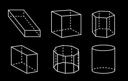 Geometric Shapes 3D Collection Vector Illustration 向量圖像