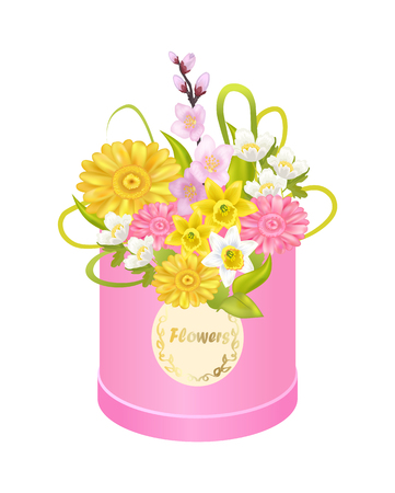 Delicious Flowers Daffodils Cherry Sakura Branch