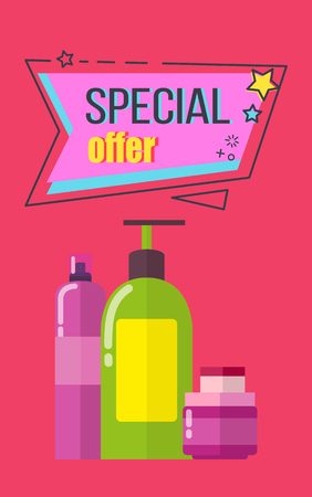 Special Offer Poster Cosmetics Vector Illustration