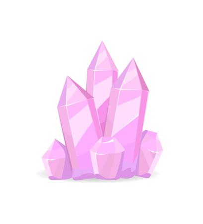 Pink Crystals Precious Stones, Realistic Minerals