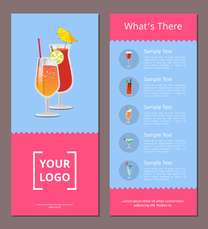 Cocktail Menu Whats There Advertisement Poster