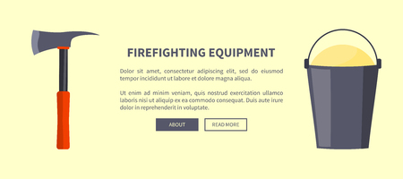Set of Special Isolated Fire Protection Equipment Stockfoto - 103897563
